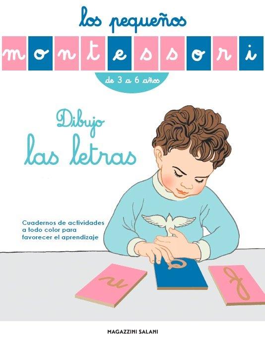 Pequeños montessori dibujo las letras de 3 a 6 años