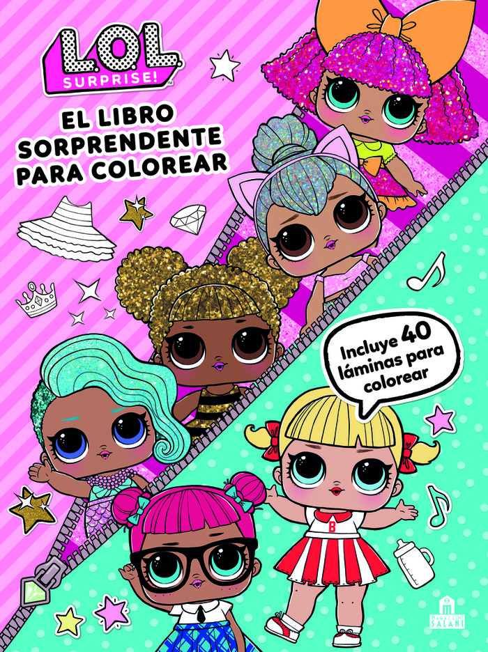 Lol surprise el libro sorprendente para colorear