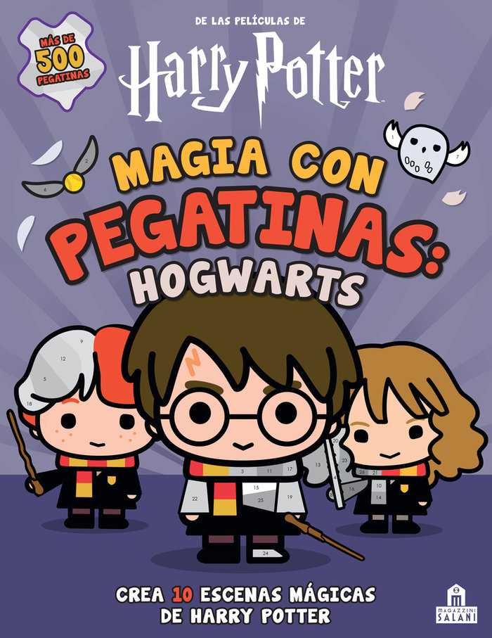 Magia con pegatinas hogwarts