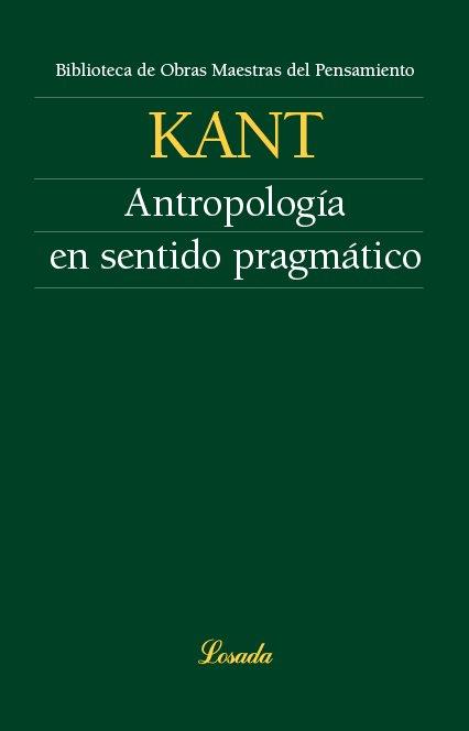 Antropologia en sentido pragmatico