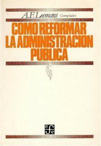 Como reformar administracion