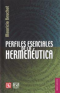 Perfiles esenciales de la hermeneutica