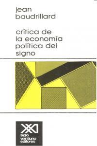 Critica de la economia politica del signo 15ªed