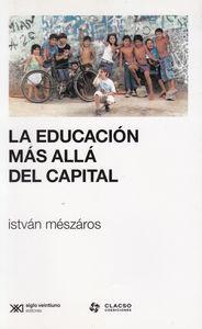 Educacion mas alla del capital,la