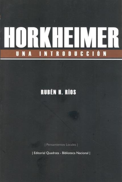 Horkheimer una introduccion