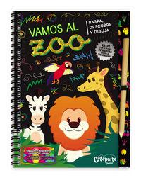 Vamos al zoo raspa descubre y dibuja