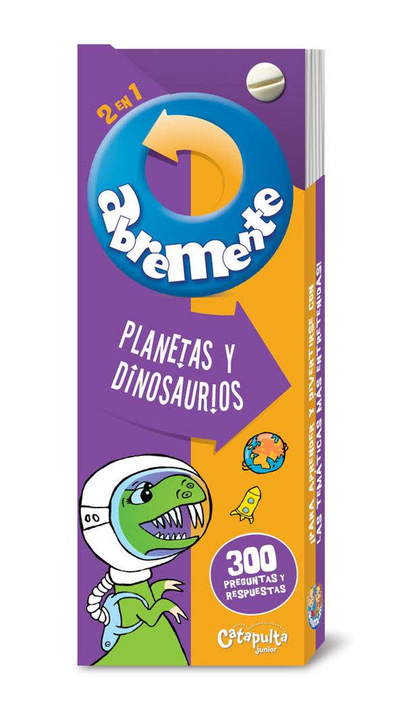 Abremente 2 en 1 planetas y dinosaurios