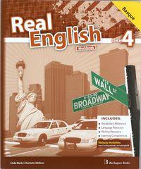 Real english 4 workbook basic 4º eso euskera   bur