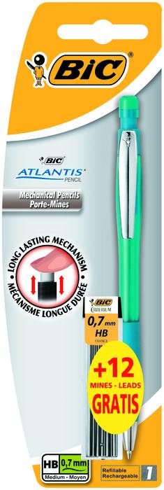 Portaminas bic atlantis 0,7mm y recambio blister