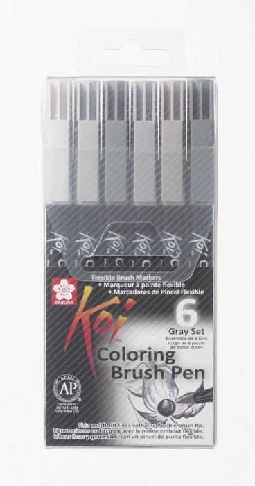 Rotuladores koi color pincel estuche 6 unidades