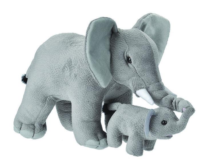 Peluche  madre y bebe elefante mom