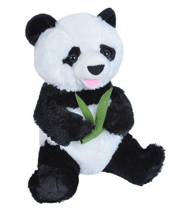 Peluche oso panda con bambu sentado 10