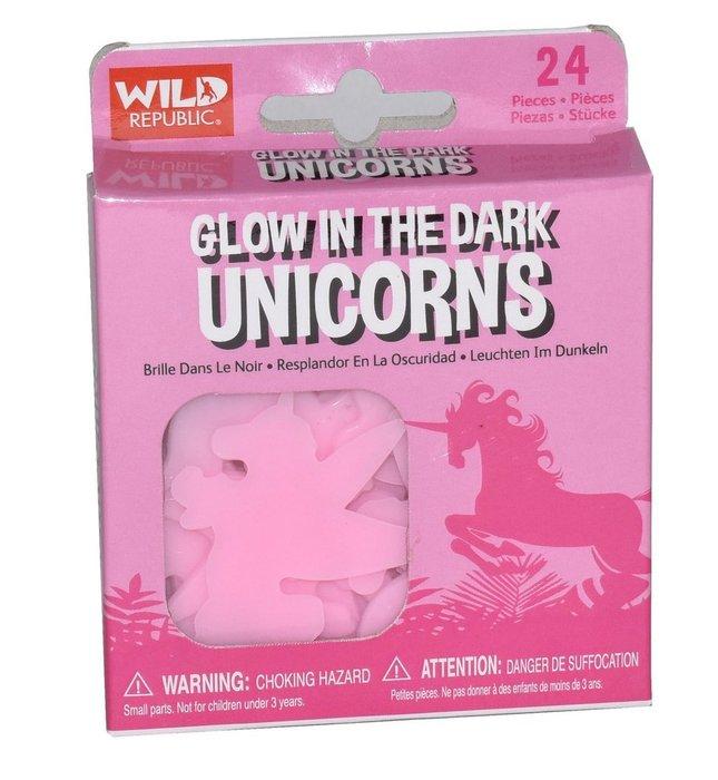 Figuras pequeÑas con forma unicornios fluorescentes