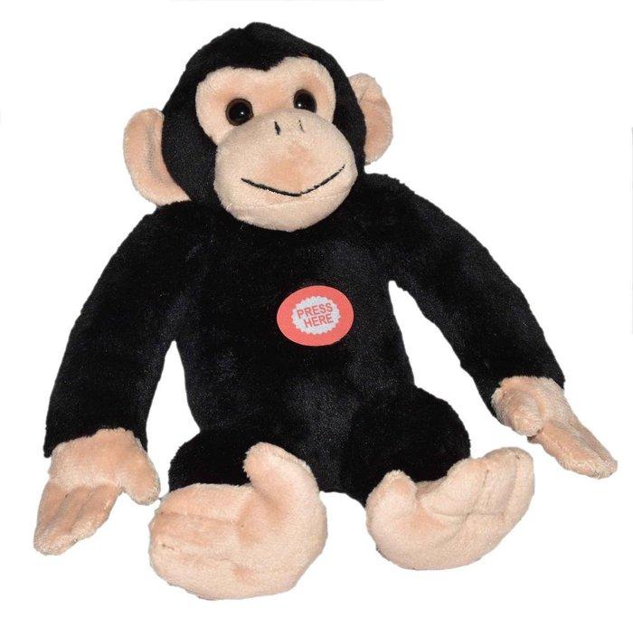 Peluche wild republic chimpance con sonido real