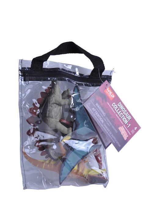 Figuras de animales bolsa con cremallera dinosaurio tipo 1