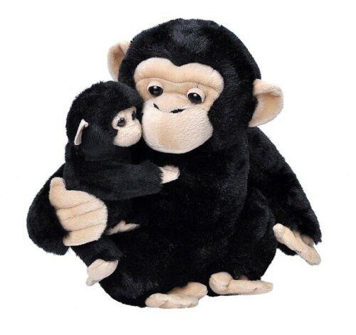 Peluche  madre y bebe chimpance mom