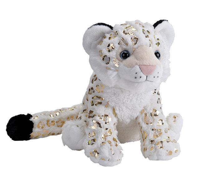 Peluche snow leopard foil