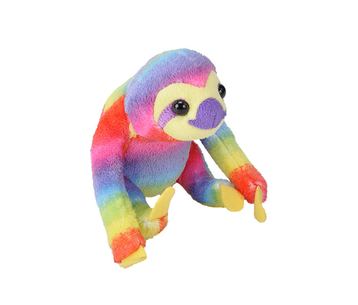Peluche rainbow sloth pock