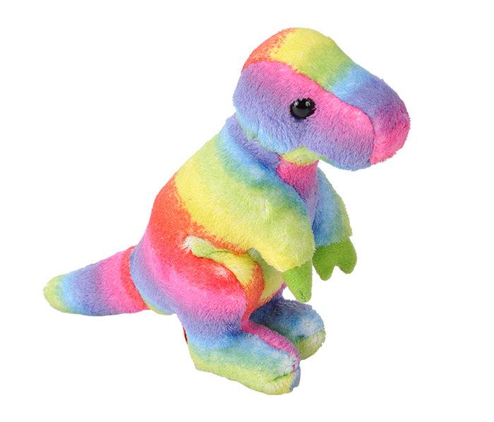 Peluche rainbow t-rex pock