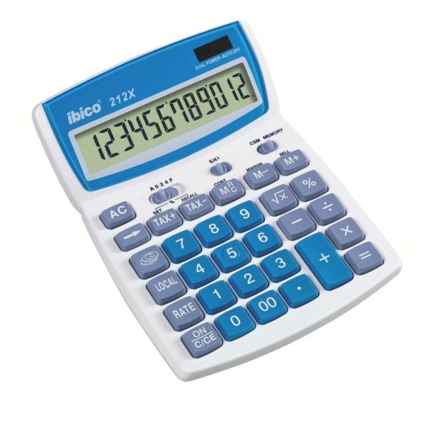 Calculadora ibico escritorio 212x blister blanco
