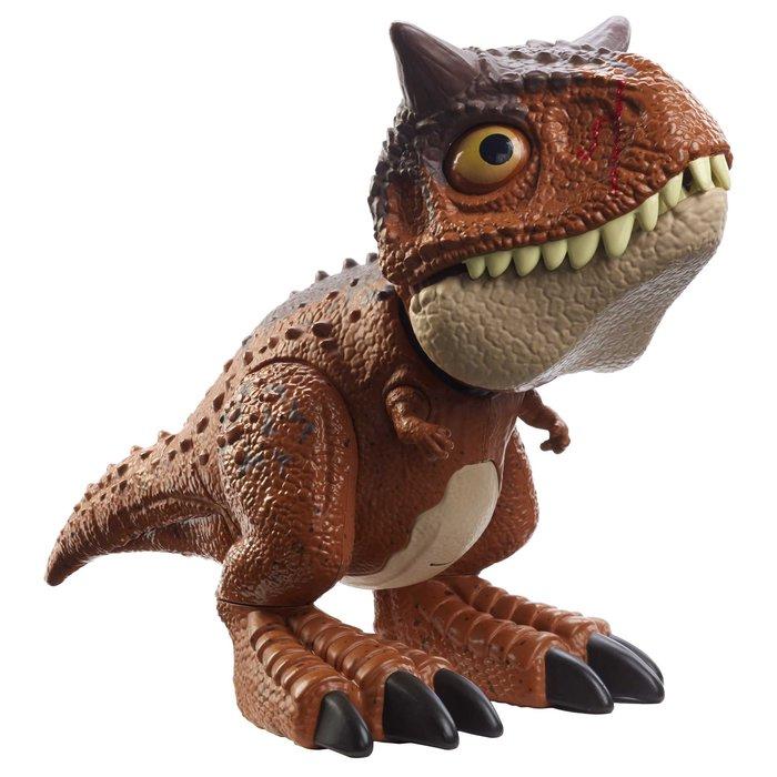 Jurassic world bebe carnotaurus mordedor