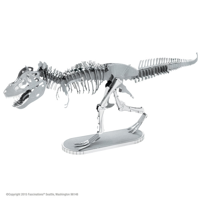 Maqueta metal esqueleto tyrannosaurus rex