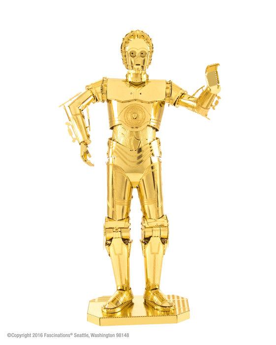 Maqueta metal gold c-3po star wars