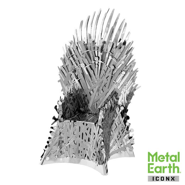 Maqueta metal trono de hierro juego de tronos