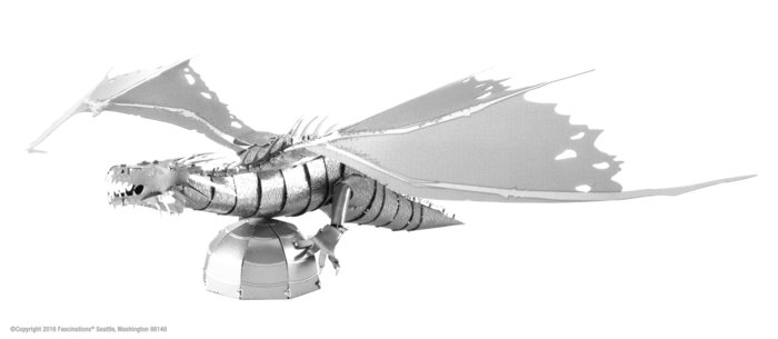 Maqueta metal dragon gringgotts