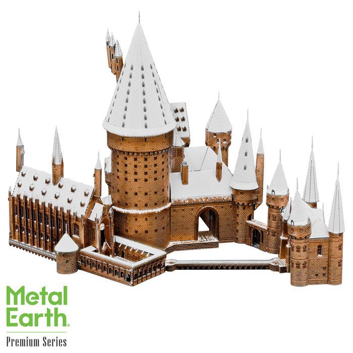 Maqueta metal castillo nevado howarts
