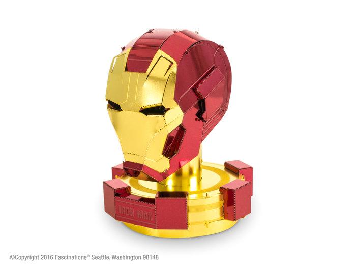 Maqueta metal marvel casco iron man
