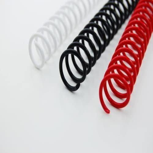Espiral plastico gbc 10mm (caja 100)blanco