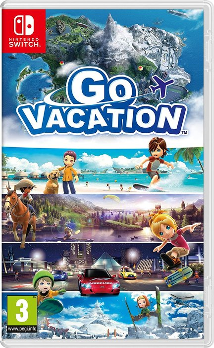 Videojuego switch go vacation