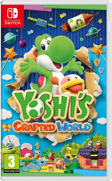 Videojuego switch yoshi´s crafted world
