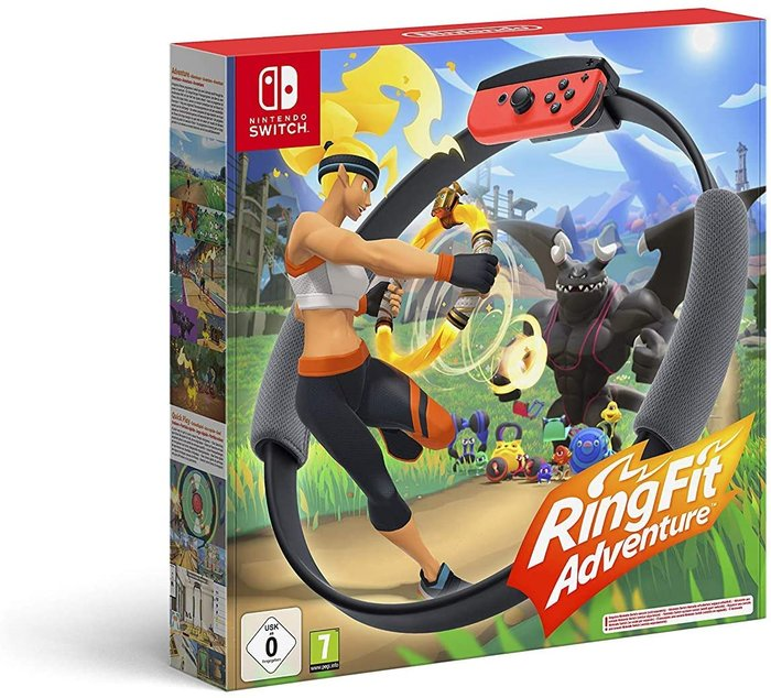 Videojuego switch ring fit adventure