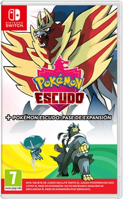 Videojuego switch pokemon escudo + expansion pass