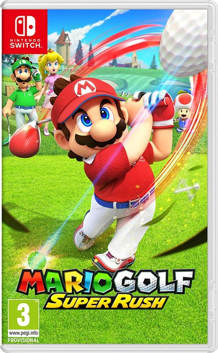 Videojuego switch mario golf: super rush