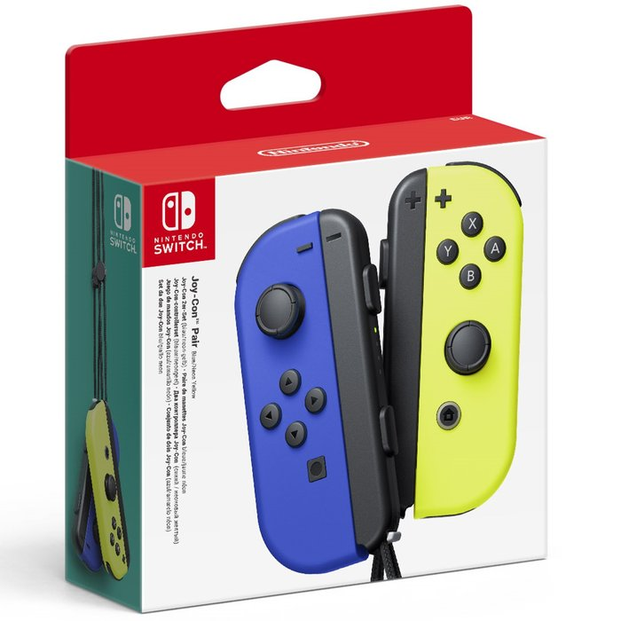 Joy-con (set izda/dcha) azul / amarillo neon