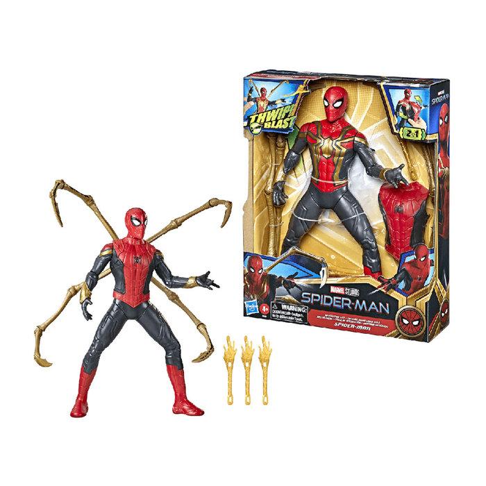 Figura spider-man traje integrado con sonido thwip marvel