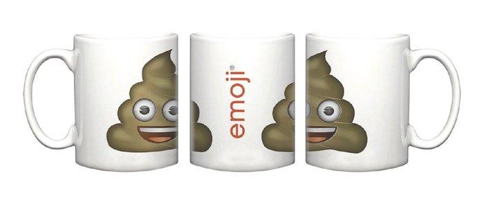 Taza de ceramica blanca poop oficial emoji caca