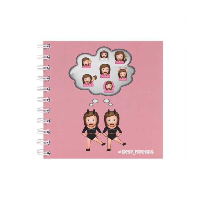 Cuaderno 14x14 cm best friends oficial emoji