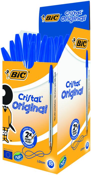 Boligrafo bic cristal azul