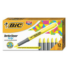 Marcador bic highlighter grip 1.6 mm amarillo
