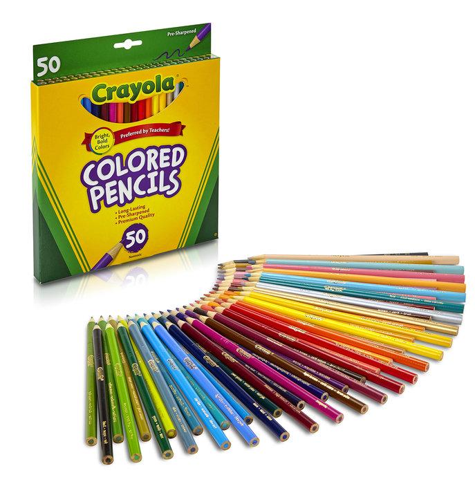 Lapiz crayola 50 lapices de colores