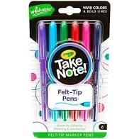 Boligrafo take note! blister 6 colores