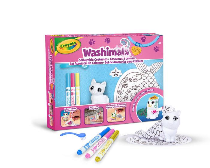 Washimals - set de accesorios sirenita con 1 mascota