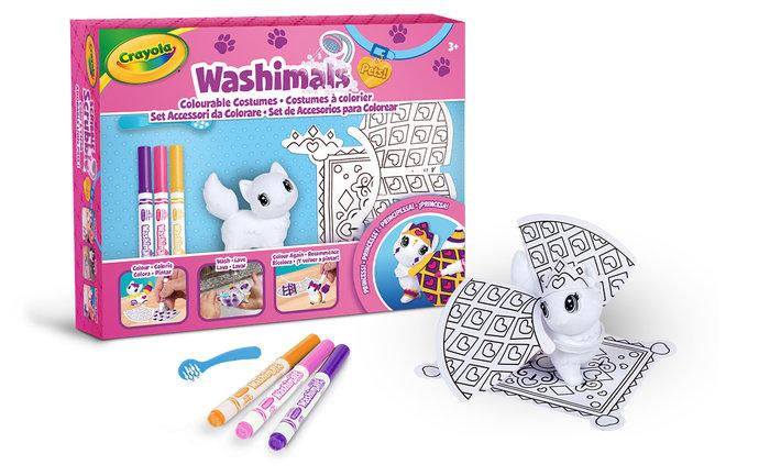 Washimals - set de accesorios princesa con 1 mascota