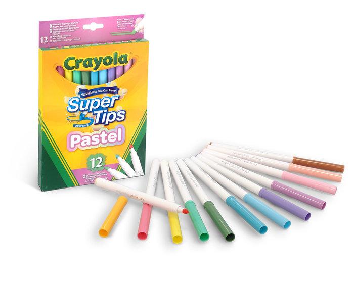 Rotulador crayola super punta 12 colores pastel