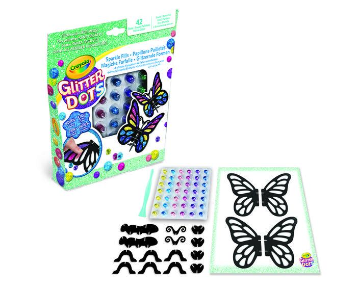 Set glitter dots mosaicos de mariposas 3d
