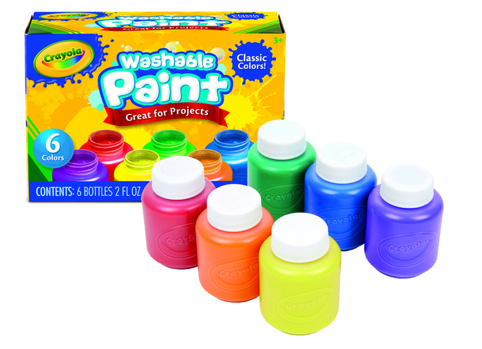 Temperas lavables crayola 6 colores surtidos